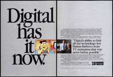 HANNA-BARBERA_/_DIGITAL (DEC)__Original 1987 Trade print AD / promo__Flintstones