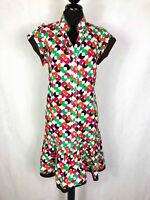 KENZO PARIS Abito Vestito Donna Cotone Pois Balze Woman Cotton Dress Sz.S - 42