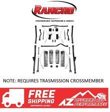"Rancho 4"" Crawler Long Arm System No Shocks 07-18 Jeep Wrangler JK JKU Black"