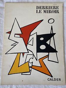 MAEGHT / DERRIERE LE MIROIR  n 141 CALDER 1963