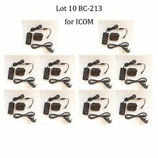 Lot 10 BC-213 Rapid Charger Power Supply for ICOM IC-F1000D IC-F2000D Radio