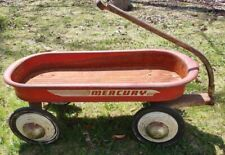 """Vintage 1940s Mercury  Metal child's Pull Wagon 30 """" long 14: wide 12"""" high"""