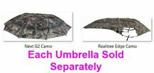 """Instant Roof Camo Treestand Umbrella 57"""" W Included Mounts Shade & Weather Cover"""