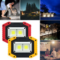Outdoor Work Light 30W Dual COB LED USB Rechargeable Floodlight for Camping QR