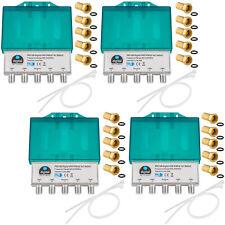 4x DiSEqC 4/1 Schalter SAT switch umschalter F-Stecker 4 in 1 Verteiler HD 4 x 1