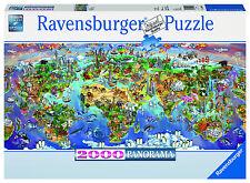 WORLD WONDERS 2000 PIECE PANORAMA RAVENSBURGER JIGSAW PUZZLE