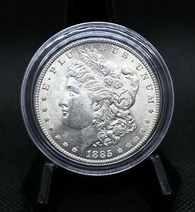 1885 Morgan Silver Dollar BU Super Sharp Luster!