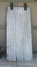 """Farmhouse BARN DOOR 77"""" AUTHENTIC Vintage OLD Door FARM DOOR Salvaged & Rollers"""
