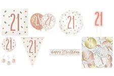 21st   Birthday Rose Gold Glitz  Party Supplies Balloons, Decorations, Tableware