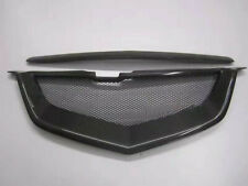 For Acura TL 04 05 06 07 08 Front Mesh Grille Carbon Fiber Shark Mouth Grill