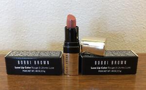 2X Bobbi Brown Luxe Lip Color Lipstick Mini Neutral Rose .08 oz NIB Ships Free!