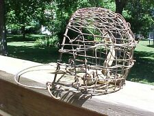 Vintage Wire Muzzle Calf Weaner w/ Barbed Wire YIKES! Great Look Barn Farm Decor