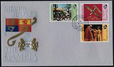Gambia 345-7 on FDC - Queen Elizabeth Silver Jubilee