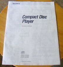 Genuine Sony CDP-C335 CDP-C235 CD Player Operating Instructions / Manual ~ 1993