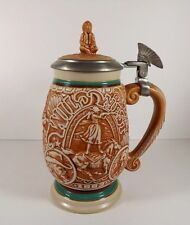 VINTAGE AVON STEIN INDIAN FINIAL HEADDRESS HANDLE TRIBUTE TO THE WILD WEST 1993