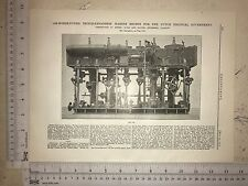 Marine Engine For The Dutch Colonial Government: 1912 Engineering Magazine Print