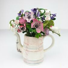 Willitts Designs Forget Me Nots Miniatures Clay Flowers Countryside 2001