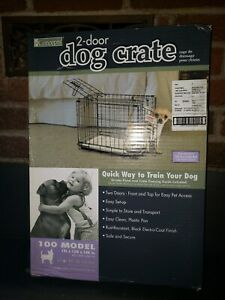 "Pro Concepts 2-Door Dog Crate Model 100 (up to 10lbs)19"" Folding 19L x 12W x 14H"