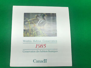 Vintage Postage 1985 Canadian Wildlife Habitat Conservation Stamp Ephemera