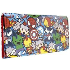 NEW OFFICIAL MARVEL AVENGERS KAWAII CHARACTERS BLUE COIN & CARD TRI-FOLD PURSE