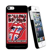 COQUE iPHONE 5 5S SE THE ROLLING STONES ENGLAND RED SILICONE RIGIDE (TPU)
