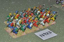 25mm medieval / turkish - seljuk spearmen 20 figs - inf (14923)