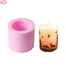 DIY Star Deer Silicone Candle Soap Mold Christmas Elk Candy Cake Chocolate Mould