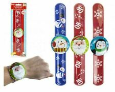 Christmas Flashing Snap Band LED Bracelet Character Snowman Santa Or Penguin