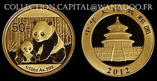 Chine Panda 1/10 OZ (50Yn) 2012 Gold  999°/00, avec certificat