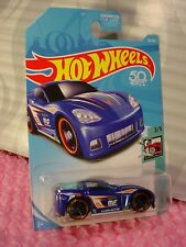 C6 CORVETTE #56 USA 50✰dark blue; orange rim oh5✰TOONED✰2018 Hot Wheels CASE D