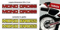 Kit Adesivi Mono Cross Yamaha XT TT 600 forcellone monocross forcella