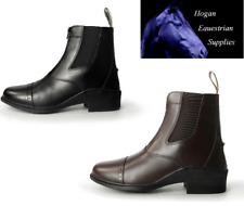 BROGINI TIVOLI ZIPPED jodhpur BOOTS ADULT BROWN or BLACK all sizes