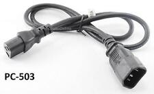 3ft Universal AC Power Distribution Unit Extension C13/C14 Cord / Cable, PC-503