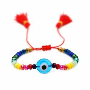 Lucky Evil Eye Beaded Bracelet Braided Red Rope Adjustable Bangle Jewelry Gift