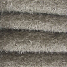 "1/4 yd 300S/CM Pewter INTERCAL 1/2"" Ultra-Sparse Curly Matted Mohair Fabric"