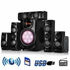 BEFREE SOUND 5.1 CHANNEL SURROUND SOUND BLUETOOTH SPEAKER SYSTEM USB/SD/FM RADIO