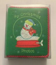 My Christmas Photos Fabric Snowman Album Holds 100 Photos New