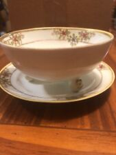 Hand Painted Nippon Mayonnaise Footed Bowl With Plate No Spoon