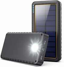 Solar Charger Power Bank 26800mAh, Solar Portable Panel Charger with 2 USB Outpu