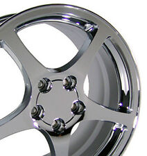17x8.5 Rims Fit Corvette, Camaro - C5 Style Chrome Wheels, 5112 SET