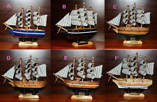 "3x NEW 5.2"" Vintage Wooden Ship Model Pirate Sailing Boats Toy PERFECT Gifts"