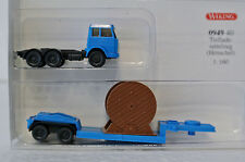 Wiking N Scale 1/160 HenschelTractor W/Low-boy Trailer and Cable Load