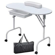 Professional Portable Manicure Nail Art Technician Table Workstation Desk White