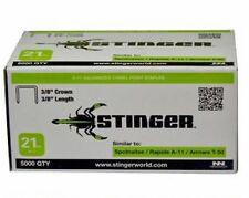"Stinger 940042 Staples 3/8"" Crown, 21GA, A-11 (5000 ct)"