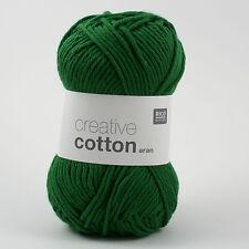 Rico Creative Cotton Aran - 100% Cotton Knitting & Crochet Yarn - Green 49