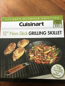 """NEw In Box Non-Stick 12"""" Cuisinart Grilling Skillet, Veggies, Seafood, For Grill"""