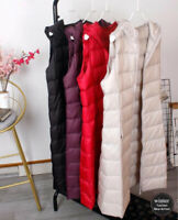 2021 New lightweight down vest women's long hooded waistcoat Puffer jacket