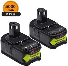 [2 Packs] Batteries Ryobi One + 5.0Ah 18v P102 P103 P104 P105 P106 P107 P108 RB