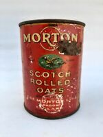 Vintage Old Rare Morton Scoth Rolled Oats Ad Litho Print Tin Box England