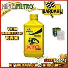 KIT TAGLIANDO 4LT OLIO BARDAHL XTC 15W50 KAWASAKI Z750 B1-B4,Y1,Y2,LTD (2 Cylind